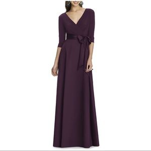 NWOT Alfred Sung Jersey & Mikado A-Line Gown Size